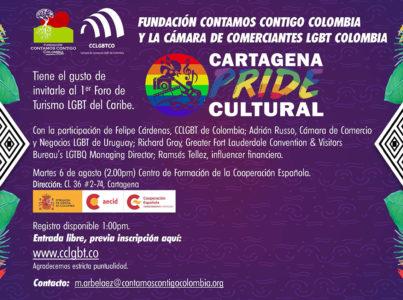 Fundación Contamos Contigo Colombia te invita al Cartagena Pride Cultural