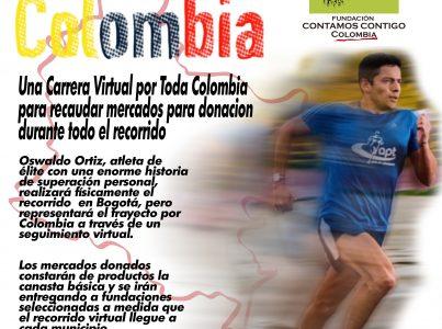 Colaboramos con el proyecto Corro por Colombia